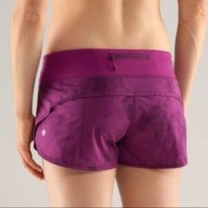 Lululemon Dark Purple Tie Dye Speed Shorts